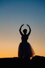 Ballerina (Read2me) Tags: twilight pree cye hull girl teen dancer silhouette sky sooc evening thechallengefactorywinner perpetualchallengewinner gamewinner gamex2