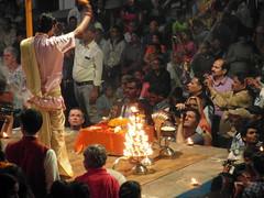 ganga seva nidhi (5) (kexi) Tags: varanasi benares india asia gangasevanidhi people many celebration ritual fire ceremony devotion samsung wb690 february 2017 instantfave