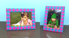 Paper Photo Frame How to Make Easy - DIY Paper Crafts Handmade Photo Frame (ufnmimcp) Tags: youtube origami papers made colors paper