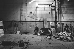 the.generosity.of.grief (jonathancastellino) Tags: toronto abandoned derelict decay ruin ruins leica q ow letter letters word chair garage skid pipe wall crumble