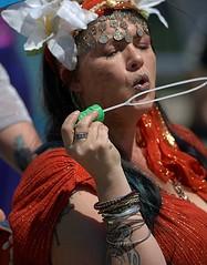 Bubble Blower's Bracelets (Scott 97006) Tags: woman female lady bubble blow bracelets