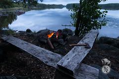 Fireside evening (Storm'sEndPhoto) Tags: joutsijärvi satakunta pori ulvila lake latesummer kesä summer fire nuotio kakkuri axe hatchet evening