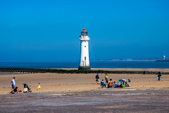 Perch Rock Lighthouse (Tony Shertila) Tags: wallasey england unitedkingdom 20180505111932wirralnewbrightonlr europe britain wirral newbrighton shore outdoor lighthouse beach horizon perchrock estuary river mersey