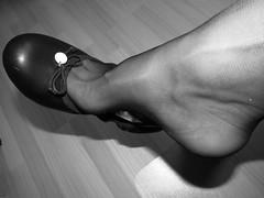 soft leather sabrinas, tattoos and nylons, shoeplay (Isabelle.Sandrine2001) Tags: softsabrinasandnylonsshoeplay legs feet shoes pumps ballerinas ballet flats sabrinas tattoos shoeplay dangling leather