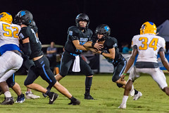 """PVHS v. Palatka-256 (mark.calvin33) Tags: football field sport ball """"high school"""" """"ponte vedra high pvhs block tackle rush run pass catch receiver blocker """"running quarterback fumble completion reception hike pitch snap """"friday night lights"""" fans stands kick """"end zone"""" """"nikon 2018 win athletics athletes """"night photography"""" """"sharks football"""" back d7100"""