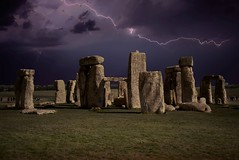 lightening over Stonehenge (Glenn Birks) Tags: stonehenge wiltshire england lightening night sky feelsgood