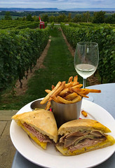 Cubano_panini_&_truffle_fries-3_MaxHDR_Dehaze_SpotRem (old_hippy1948) Tags: blomidon wine