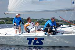 KRYC CUP 2014-4351 (amprophoto) Tags: sail sailing sailingyacht sailboat yachtrace regatta water wind white blue beneteau platu25 peoples sky sport spinnaker fun smile