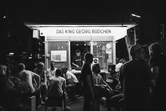 Büdchen Nights (Zesk MF) Tags: cologne zesk mono night dark büdchen georg king dublab radio black white dj vinyl nachts musik people street strase life warin flowtec