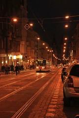9684 (karel.seidl) Tags: prague praha street city town tram night holešovice evening flickr5stars