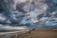 Rain (thijs.coppus) Tags: thehague denhaag scheveningen katwijk surf storm wolken clouds sky zand nederland niederlande netherlands holland kust coast plage playa strand beach surfer surfing