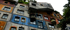 Viena (albavv46) Tags: house hundertwasserhaus colorful color blue red yellow summer trip travel europe viena wien like sky perspectiva picture day light rain tree trees canon amateur art arquitectura architecture arbol artistic tbt photography places