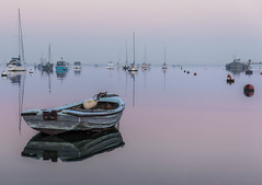 Reflections (merseamillsy) Tags: tranquil sunrise calm peaceful water reflections boats mersea early sea morning waterscape tide dawn pastel lilac pink coastal coastline sky seascape reflection coast dinghy merseaisland