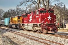 CSX K421-23 (Steve Hardin) Tags: locomotive engine heritageunit katy unionpacific cn canadiannational csx wa westernatlantic railroad railway railfan train ethanol tankcar cartersville georgia emd sd70ace c408 up