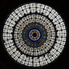 Looking up! (Shahrazad26) Tags: ceiling plafond gellértbaths gellértbadhuis jugendstil artnouveau boedapest budapest hongarije hungary ungarn magyarország glasinlood stainedglass buda