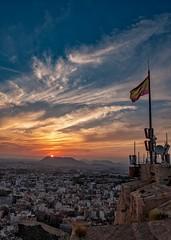 Sunset, Alicante (Vest der ute) Tags: xt20 spain sunset sky clouds city evening buildings houses softlight fav25 fav200