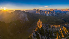 Aerial Sunset (F!o) Tags: aerial luftbild dji mavic mavic2 mavicpro2 mavic2pro dolomiten dolomites dolomiti sonnenuntergang sunset sunrise mountains view berge alpen alps awesome photography fotografie