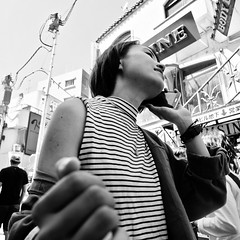 harajuku, japan (michaelalvis) Tags: asia bw blackandwhite buildings candid city citylife cellphones cellphone fujifilm harajuku japan japanese japon monochrome nihon nippon peoplestreet portrait people peoplestreets streetphotography streetlife street signs travel tokyo urban women woman x70