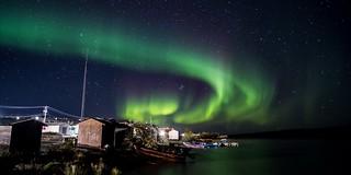 Northern lights over Lutselk'e