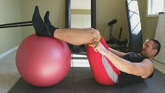 Stability Ball Leg Curls with Bands (personaltrainertoronto) Tags: leg curls workout hamstrings ironmaster exercise athlete fitness gym personal trainer training fit model strong strength muscle bodybuilder bodybuilding