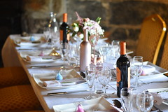 Polhawn Fort, Cornwall (James Mans) Tags: nikon d5500 50mm18 polhawn fort cornwall wedding bottles wine marriage bottle candle knife fork plates napkins
