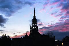 Eglise au crépuscule (C3os) Tags: paysage crépuscule eglise ciel contrejour