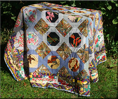 my beautiful quilt (mhobl) Tags: quilt stoff muster patterns decke