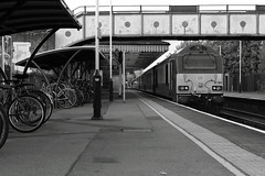 Godalming UK  |  2018 (keithwilde152) Tags: br class67 67021 67024front godalming uk 2018 station town platforms tracks footbridge cycle racks passenger train diesel locomotives outdoor autumn evening