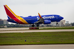 Leaving on a Jet Plane (Ellsasha) Tags: aeroplane aircraft jet colors colours airport houston hobby