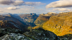 Geiranger in penumbra (ozrot) Tags: norway geiranger fjord clouds outdoor rocks