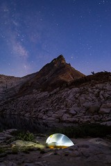 Scary/Starry Night (Dancing.With.Wolves) Tags: mountains mineral king national park california sleeping stars milky way tent backpacking summer 2018 lake rocks mountain lions scary footsteps smell heart rate beating calm no fear light remember