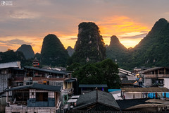 Yangshuo, China Mountainous Landscape Exotic Asian Sunset Travel (HunterBliss) Tags: ancient asia asian background beautiful china chinese clouds countryside county day destination dusk famous forest green guangxi guilin hill hills karst landmark landscape li lijiang limestone morning mountain mountains natural nature outdoors place river rural scene scenery scenic sky sunrise sunset tourism town travel valley view village water xingping yangshuo