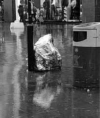 Homeless  B\W (Roelie Wilms) Tags: homeless liverpool regen rain reflectie reflection reflektie reflections uk england greatbritain