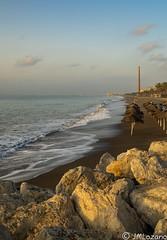 Playa de Malaga (josmanmelilla) Tags: malaga playas playa amaneceres amanecer mar agua pwmelilla flickphotowalk pwdmelilla pwdemelilla
