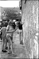 Chalk Wall (joannewhiteart) Tags: cinestill cinestillbwxx blackandwhitephotography blackandwhitefilm kodakeastman ilovefilm filmphotography canon canoneos1nrs muralfestvancouver murals mainstreet vancouver muralfest2018 homedeveloped kodakhc110 analogue streetphotography