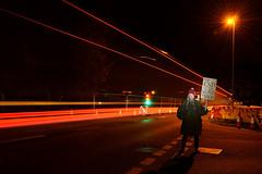 Crossroads (Apionid) Tags: crossroads road lighttrails red night urban hereios werehere lichfield nikond7000