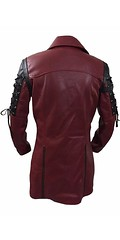 New Steampunk Gothic Maroon and Black Trench Leather Coat for Men 2 (kellie.mayorga) Tags: cafashion usfashion gifts trenchcoat menfashion boysfashion gothiccoat menjacket menclothing boysclothing menswear bikers bikerboys lovers fans shopping stylish costume superhotfashion parties casual love elegant awesome leatherjackets