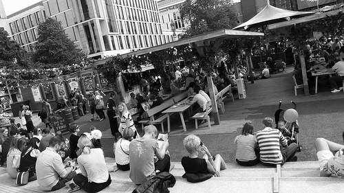 Bristo Square during the Festival 01