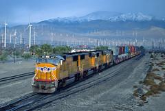 Yuma Sub UP 4145 ILBNO 12 Jan 01 (Ray C. Lewis) Tags: slides fuji railroad trains railways yuma subdivision railfanning scans california union pacific