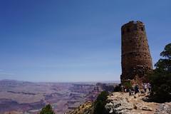 Desert View Watchtower, Grand Canyon National Park, Arizona (mattk1979) Tags: grandcanyon nationalpark arizona watchtower desert view unitedstatesofamerica usa sun outdoors sky tourist attraction cliffs rocks mountain colorado river