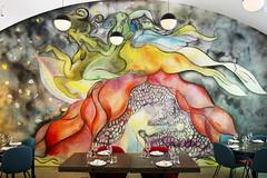 - MCA Marisol - (Jacqueline ter Haar) Tags: mca mural marisol chrisofili josefpaulkleihues museum contemporary art chicago museumofcontemporaryartchicago stairwell bw