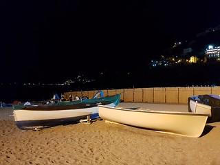 Di notte sulla sabbia