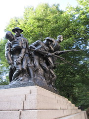 107th Infantry Memorial World War One Soldiers NYC 8259 (Brechtbug) Tags: 107th infantry memorial dedicated soldiers who died during world war i created by sculptor karl morningstar illava central park 5th ave 67th streets represents seven nyc 08232018 new york city september 29 1927 wwi one public art statue sculpture august 2018