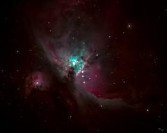 Orion Nebula (Chuck - PhotosbyMCH.com) Tags: 2017 photosbymch astrophotography orionnebula celestron 11inchedgehd cgemdx nightsky longexposure stacked chesapeake virginia usa canon 5dmkiii telescope edgehd11