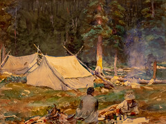 John Singer Sargent, Camping Near Lake O'Hare (Dave Landry) Tags: artexhibit flickr northamerica landscapes newark places newjersey paintings essexcounty unitedstates newarkmuseum alpsandrockesexhibit america us usa unitedstatesofamerica