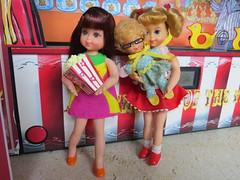 7. Happy customers (Foxy Belle) Tags: doll vintage barbie diorama summer carnival fair 16 scale playscale food beach sand boardwalk children kids chris buffy tutti mrs beasley