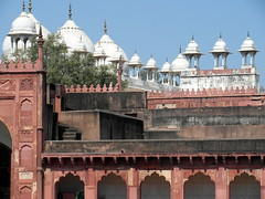 agra red fort colors (kexi) Tags: agra india asia uttarpradesh redfort colors architecture white pink blue green mughal old ancient fort samsung wb690 february 2017