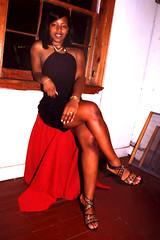 Sugar Black Dress Window Portrait Philly Studio Philadelphia Aug 1997 005a (photographer695) Tags: sugar black dress window portrait philly studio philadelphia aug 1997