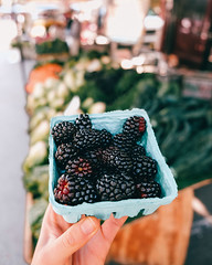 Market Blackberries (ella.o) Tags: blackberries foodmarket container outdoor fruit vegetables