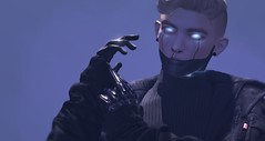 Just Horsin' Around (Bonecharm) Tags: sl secondlife cyberpunk futuristic